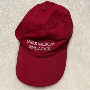 'Make America Emo Again' Red baseball cap
